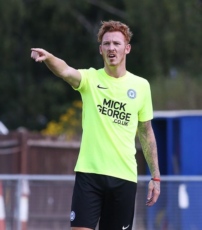 Josh Yorwerth in action for Peterborough United
