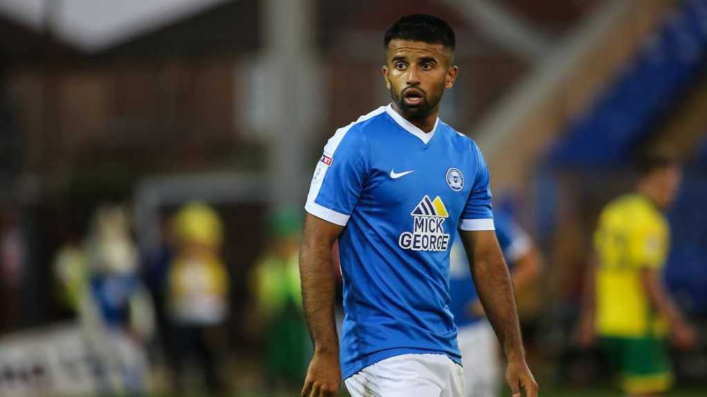 Adil Nabi in action for Peterborough United