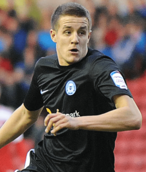 Scott Wootton in action for Peterborough United in the Championship